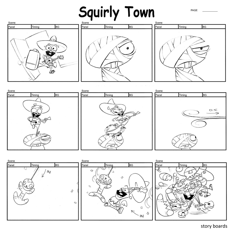 <i>'Squirly Town' Preproduction Art</i><br>Production: Frederator / Nickelodeon<br>Directed by: Mike Dietz, Doug TenNapel<br>Art: Mike Dietz